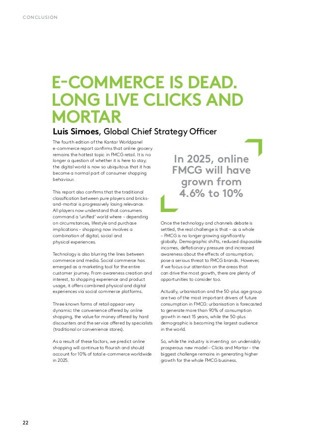 The Future of eCommerce en FMCG (Fast Moving Consumer Goods) 2017