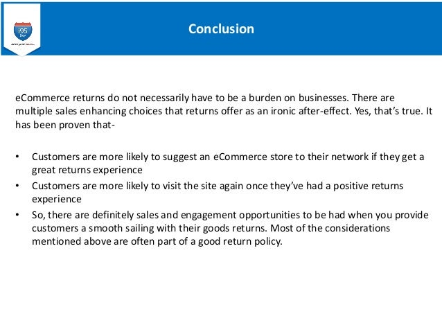 Ecommerce Returns The Most Important Things To Consider