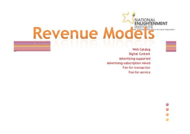 e commerce revenue model E-commerce business models  value proposition revenue model market  opportunity competitive  what other revenue models might be appropriate.