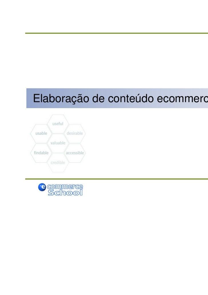 Elaboração de conteúdo ecommerce
