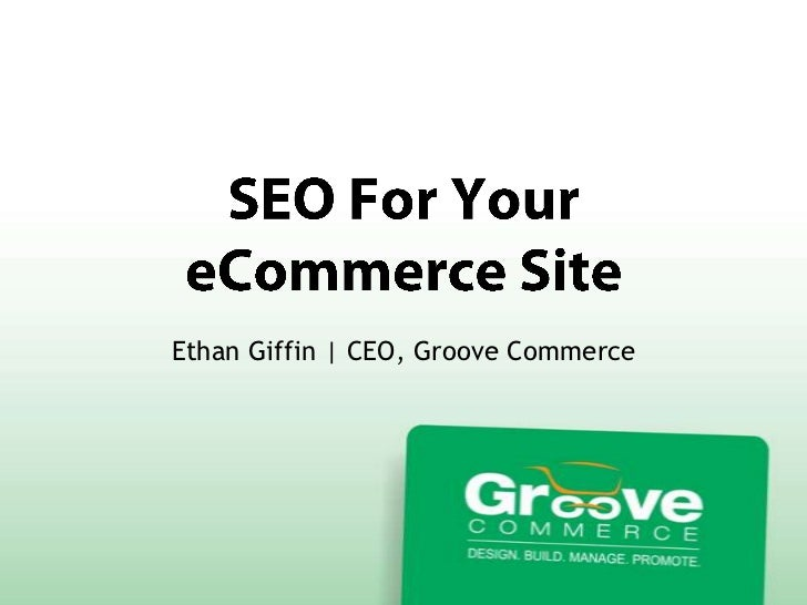 Ethan Giffin | CEO, Groove Commerce