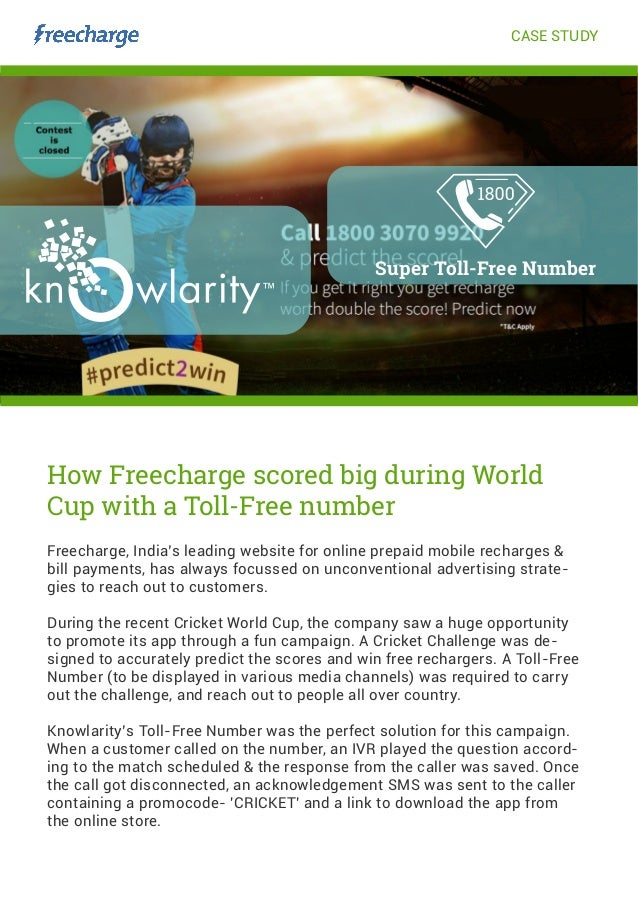 How Freecharge scored big using Knowlarity's TollFree number