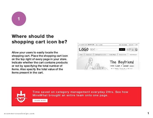 eCommerce shopping cart design Slide 2