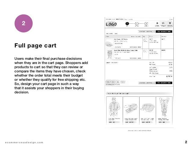 eCommerce shopping cart design Slide 3