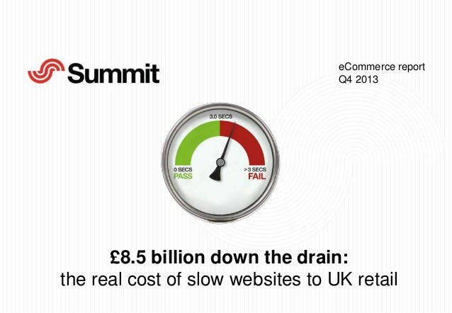 eCommerce report Q4 2013  £8.5 billion down the drain: the real cost of slow websites to UK retail