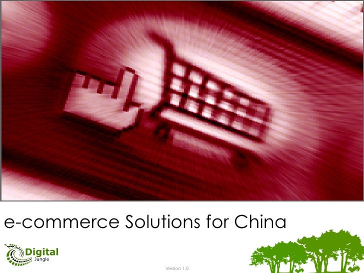e-commerce Solutions for China                                Version 1.0