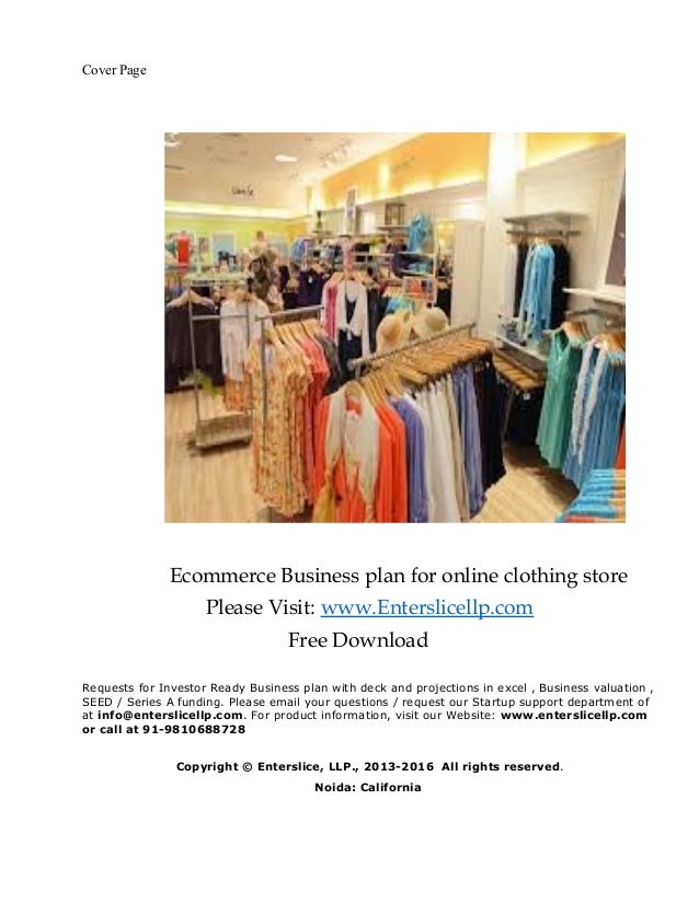 online fashion store business plan