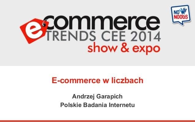 E-commerce w liczbach  Andrzej Garapich  Polskie Badania Internetu