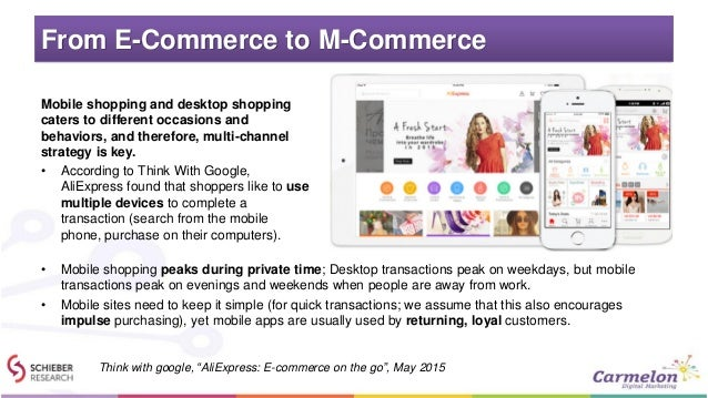 From E-Commerce to M-Commerce Mobile shopping and desktop shopping caters to different occasions and behaviors, and theref...
