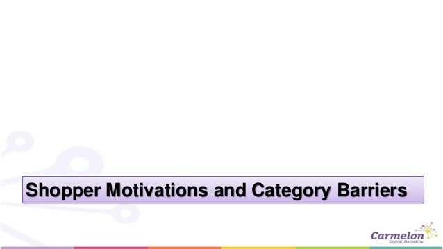 Shopper Motivations and Category Barriers