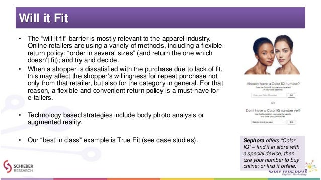 """Will it Fit • The """"will it fit"""" barrier is mostly relevant to the apparel industry. Online retailers are using a variety o..."""
