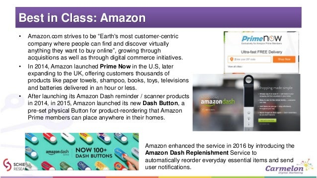 """Best in Class: Amazon • Amazon.com strives to be """"Earth's most customer-centric company where people can find and discover..."""