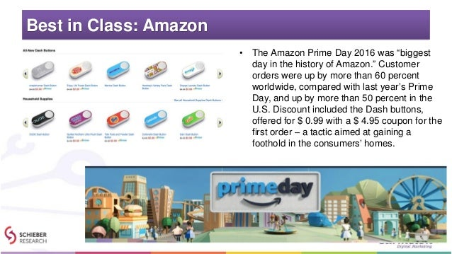 """Best in Class: Amazon • The Amazon Prime Day 2016 was """"biggest day in the history of Amazon."""" Customer orders were up by m..."""