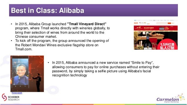 """Best in Class: Alibaba • In 2015, Alibaba Group launched """"Tmall Vineyard Direct"""" program, where Tmall works directly with ..."""