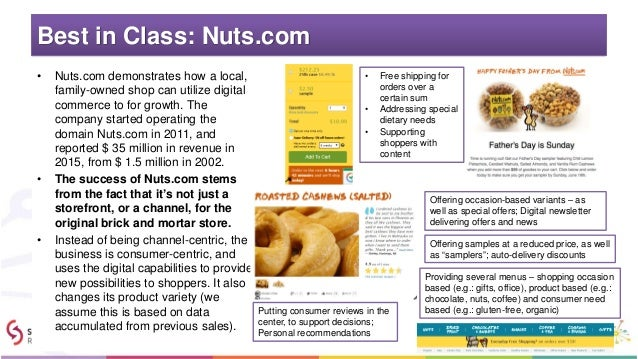 Best in Class: Nuts.com • Nuts.com demonstrates how a local, family-owned shop can utilize digital commerce to for growth....