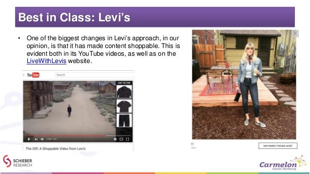 Best in Class: Levi's • One of the biggest changes in Levi's approach, in our opinion, is that it has made content shoppab...