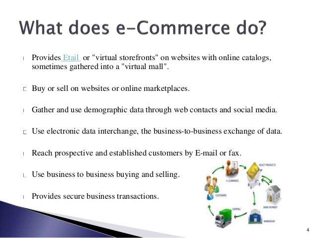 Benefits Electronic Commerce