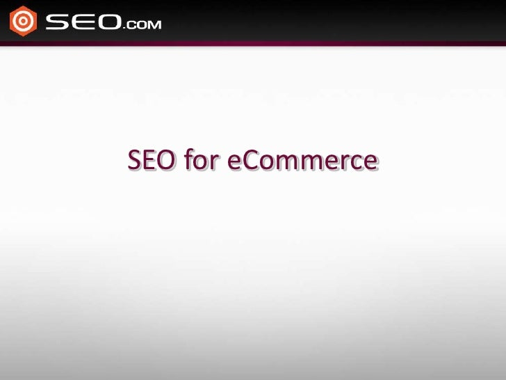 SEO for eCommerce<br />