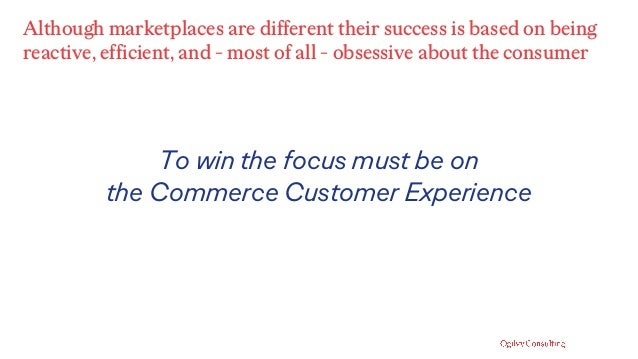 Although marketplaces are different their success is based on being reactive, efficient, and - most of all - obsessive abo...