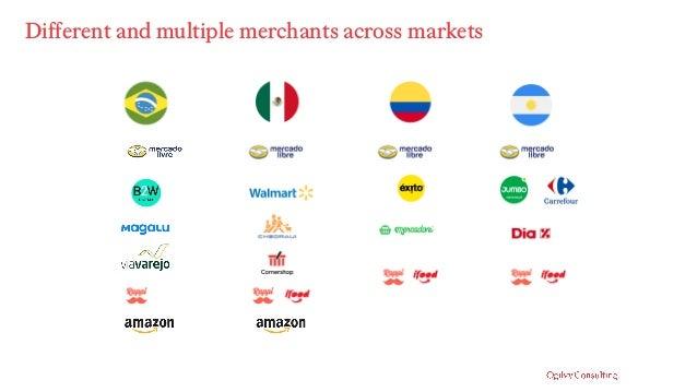 Different and multiple merchants across markets