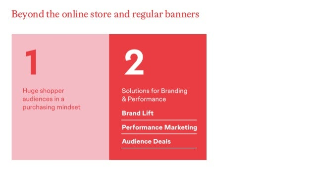 Beyond the online store and regular banners