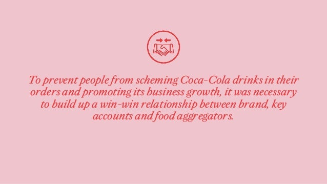To prevent people from scheming Coca-Cola drinks in their orders and promoting its business growth, it was necessary to bu...
