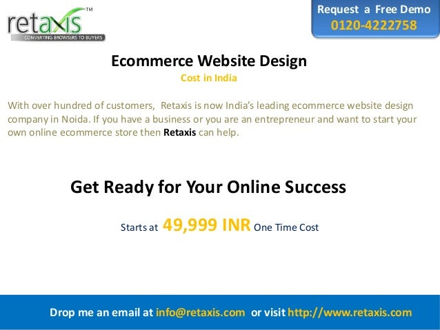 Ecommerce Website Design Cost in India