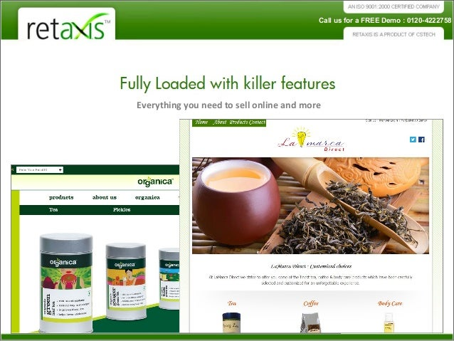 Ecommerce website design for selling organic products online