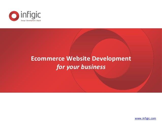 Ecommerce Website Development for your business www.infigic.com