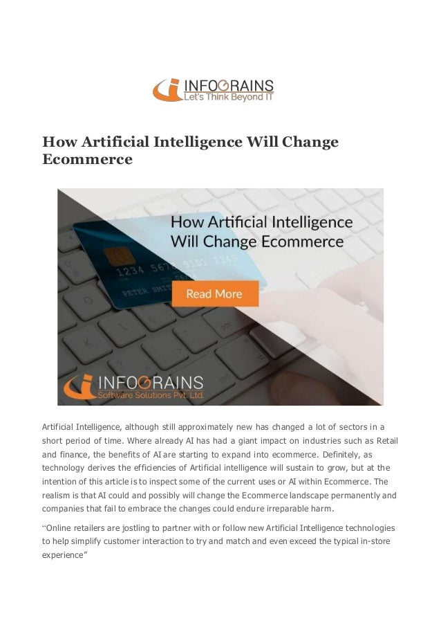 Technology Management Image: How Artificial Intelligence Will Change Ecommerce : Infograins