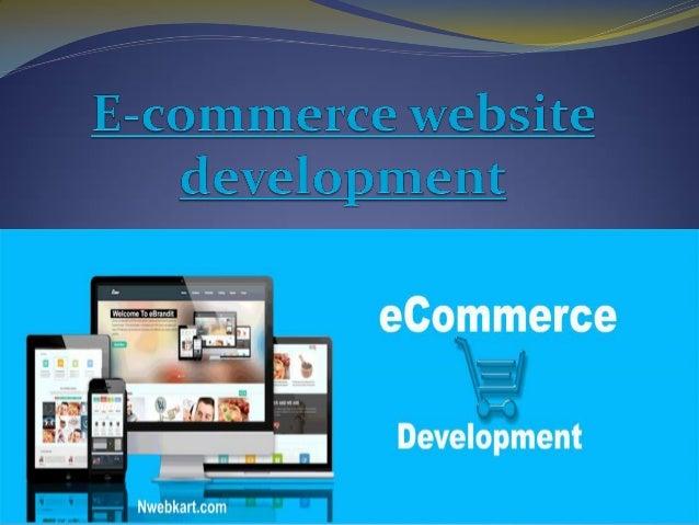 e commerce website development ppt