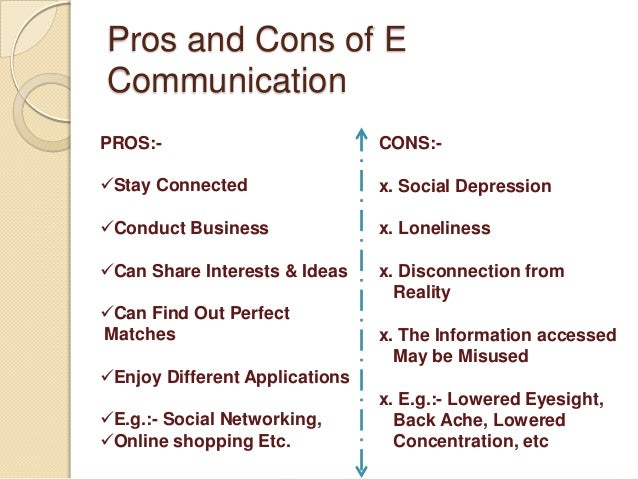 Pros And Cons Of Internet Communication