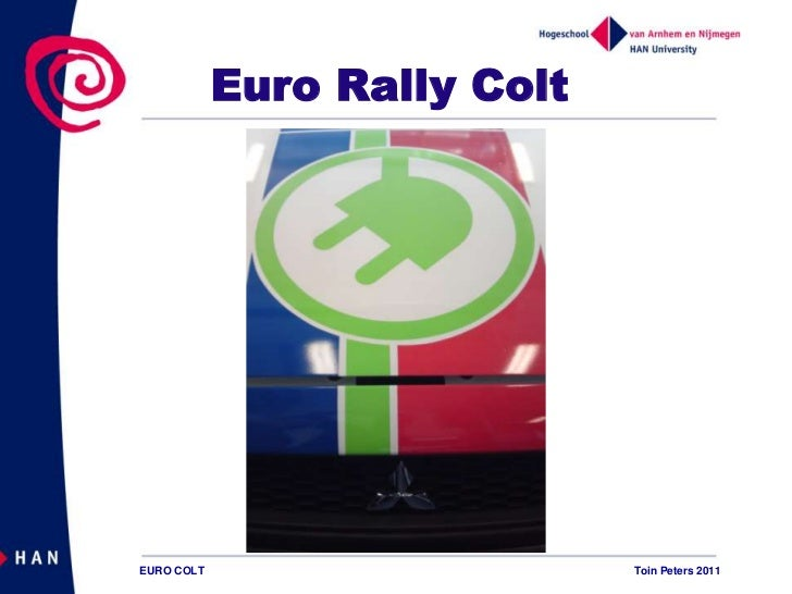 Euro Rally ColtEURO COLT                     Toin Peters 2011