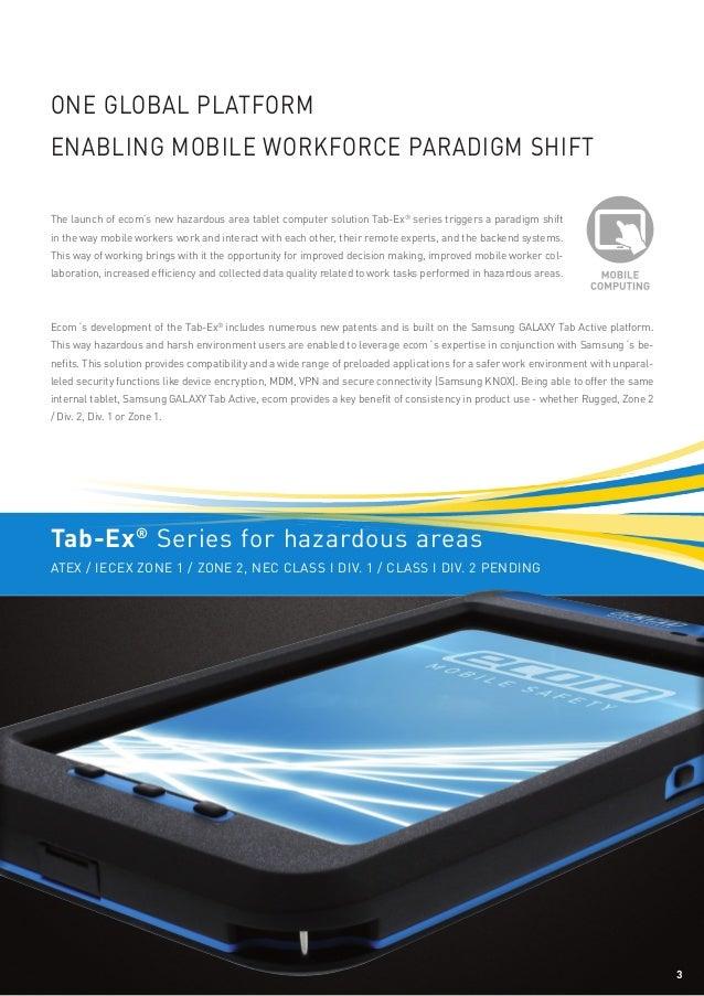 Ecom Tab-Ex ATEX IECEx Hazardous Area Tablet - Brochure