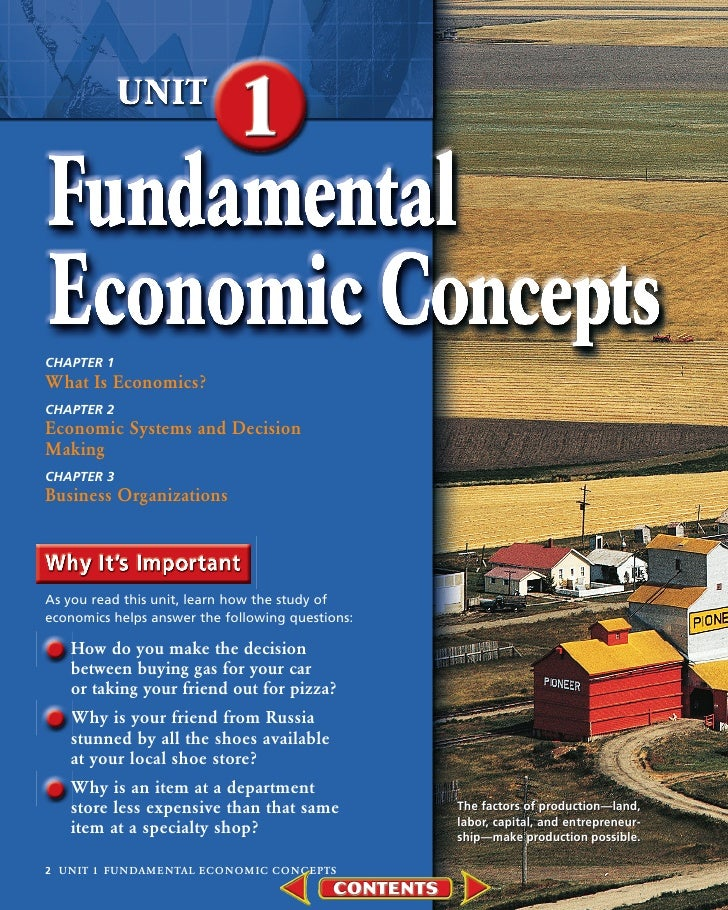 CHAPTER 1 What Is Economics? CHAPTER 2 Economic Systems and Decision Making CHAPTER 3 Business Organizations     As you re...