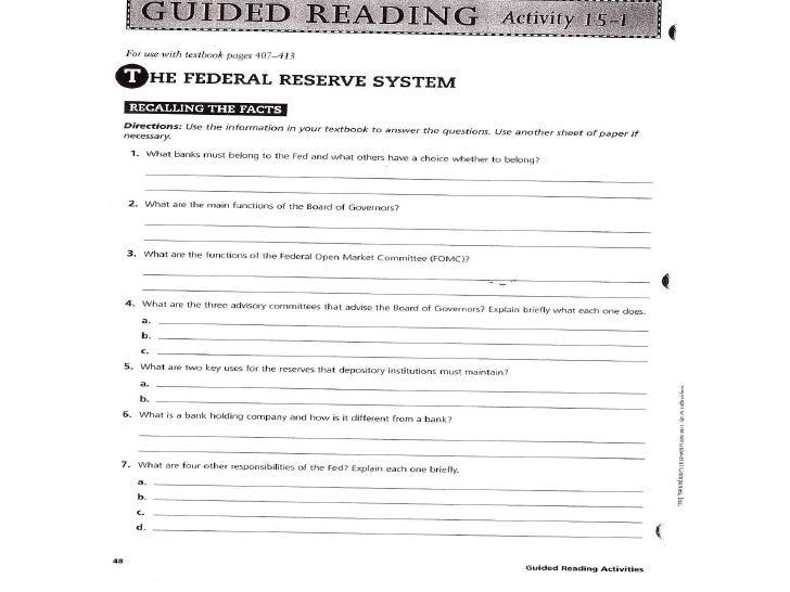 econ chapter 15 rh slideshare net Federal Reserve System Structure Federal Reserve System Diagram