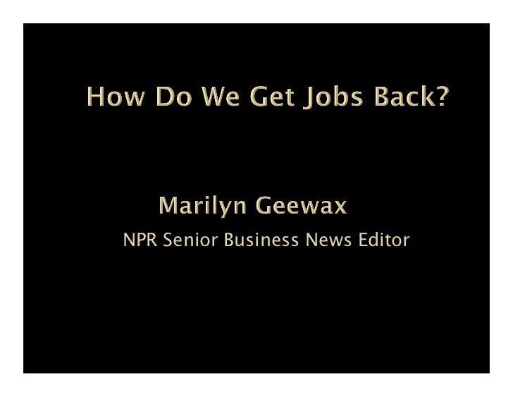 NPR Senior Business News Editor