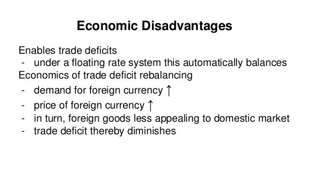 Advantages and disadvantages of exchange rate systems