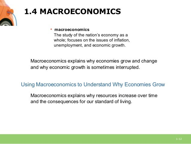 macroeconomics week 1