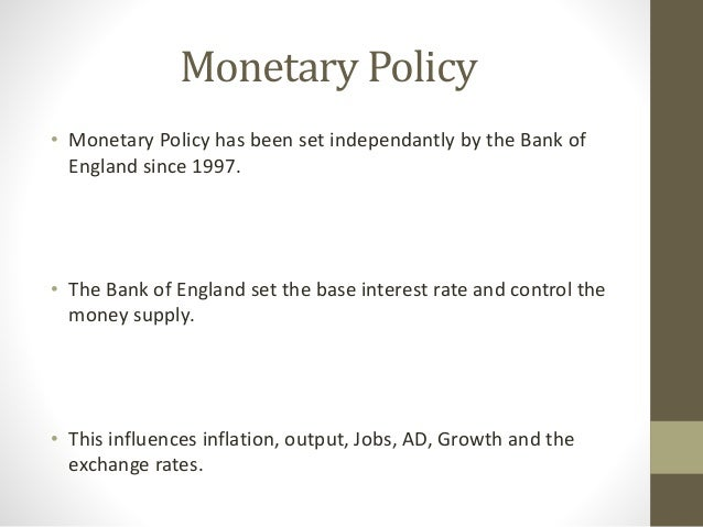 econ essay writing new monetary policy