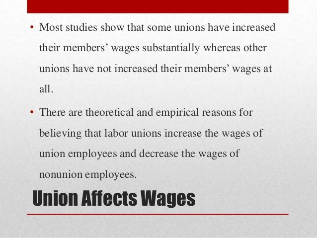 labor unions effects on productivity Research into the causes and effects of unemployment and measures for the  alleviation of  union-management cooperation, and productivity-gainsharing to.