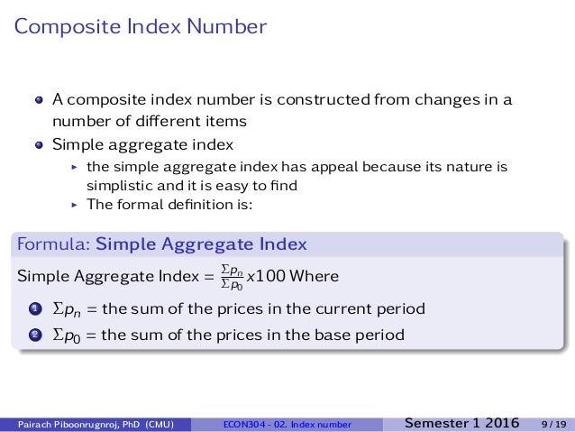 Econ304 2 - Index Number