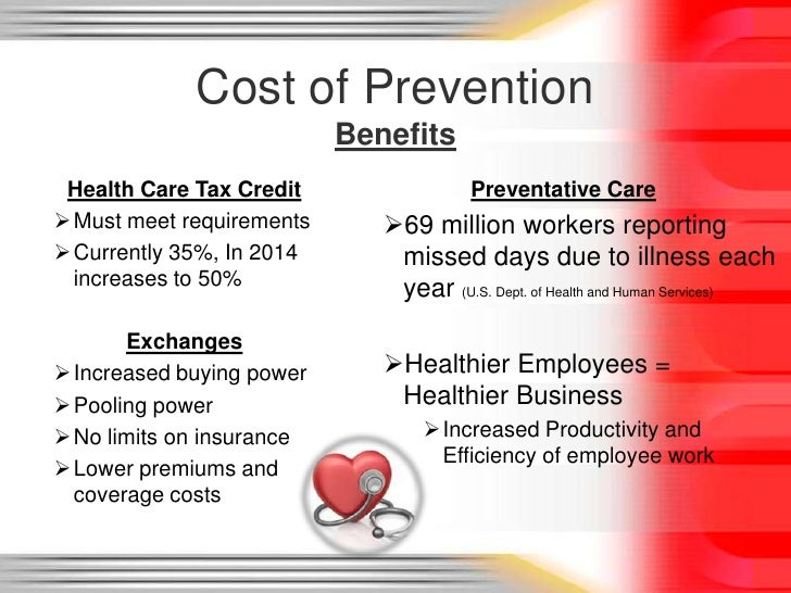 Cost Of Prevention: Overview of Affordable Care Act and ...