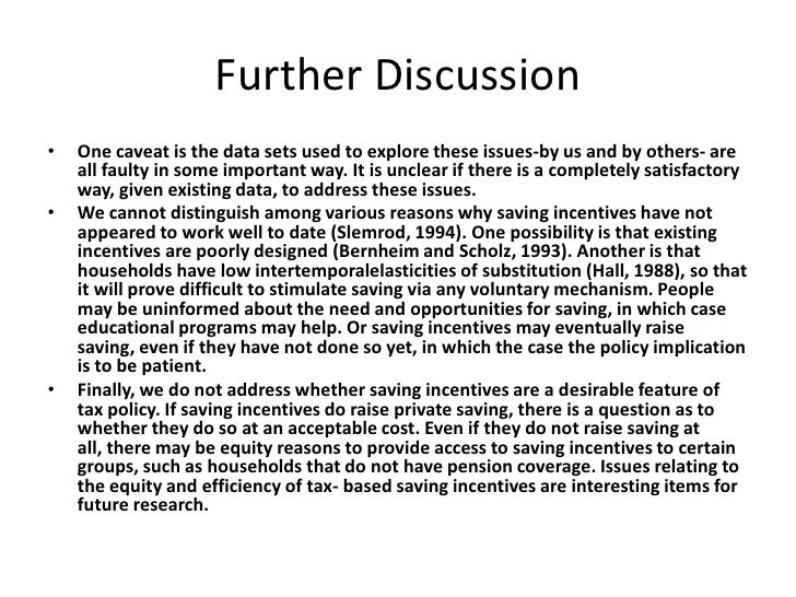 Further Discussion<br />One caveat is the data sets used to explore these issues-by us and by others- are all faulty in so...