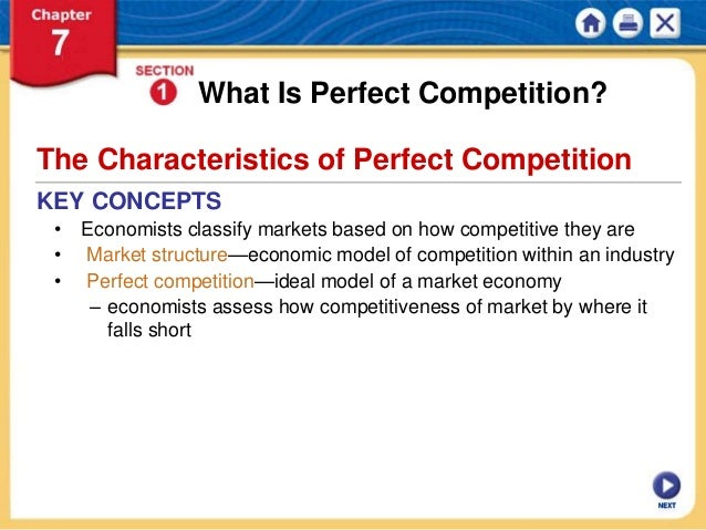 characteristics of perfect competition economics essay Perfect competition - economic efficiency levels: is perfect competition good for economic efficiency behavioural economics example essays.