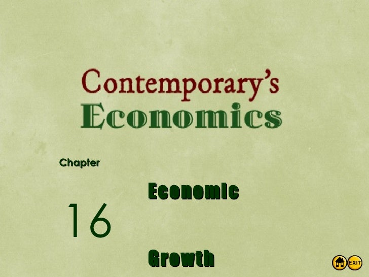 Chapter Economic Growth 16