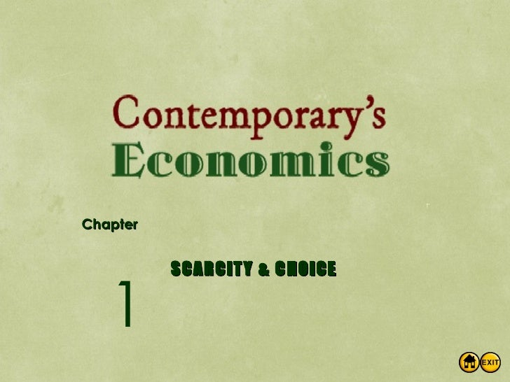 Concepts of Scarcity And Choice – Economics Class 11