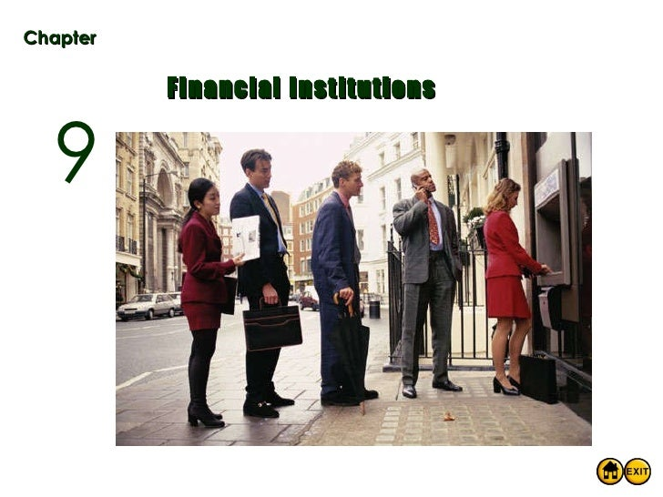 Chapter Financial Institutions 9