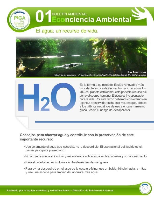 01                       El agua: un recurso de vida.                                                                     ...