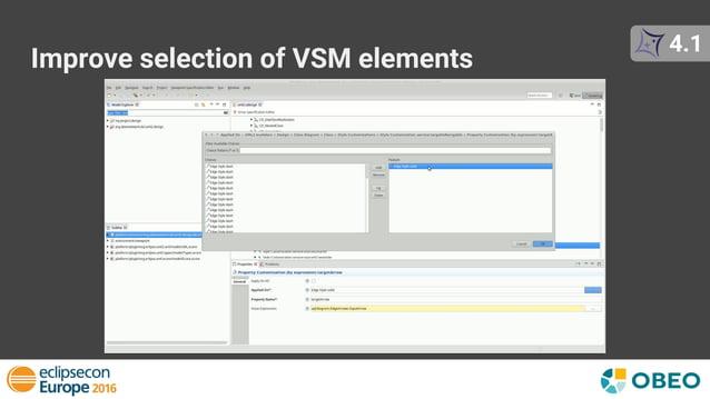 4.1 Improve selection of VSM elements